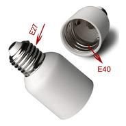 Socket Adaptador E40 A E27 Para Foco Lampara Porta Lampara
