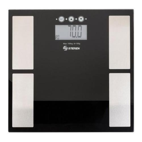 Báscula digital Steren MED-110 negra, hasta 150 kg