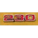 Insignia Número 230 De Chevrolet 400