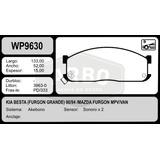Pastilla Freno Mazda Furgon Mpv 89/94 Kia Besta 90 Wildbrake