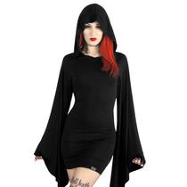 Vestido Gotico Capucha Witch Goth Pagan Medieval