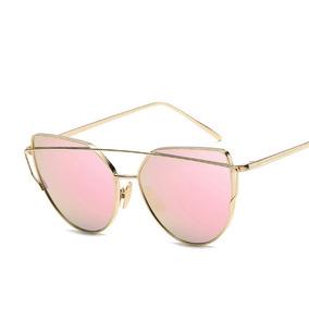 Óculos De Sol Espelhado Feminino Rose Frete Grátis