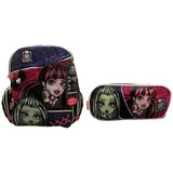 Kit Monster High 15z Original : Mochila G Costas + Estojo