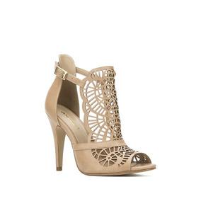 Zapatilla Andrea Ankle Strap Mujer Beige 2366364