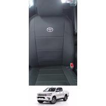 Capa Banco Couro Ecológico Courvin Toyota Hilux Nova 2016/..