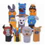 Dedoches Animais Domésticos 10 Personagens Feltro 1525 Carlu