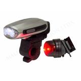 Linterna Luz Led Dinamo Para Bicicletas Cn Cargador Celular