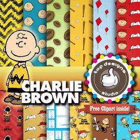 Charlie Brown Snoopy Peanuts Desenho Kit Scrapbook Digital