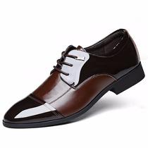 Sapato Social Masculino Power Me Envernizado Estilo Europeu
