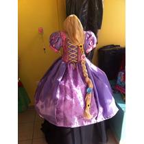 Princesa Rapunzel Paquete (vestido, Peluca, Y Tiara)