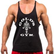 Regata Cavada Golds Gym Academia Para Treino Masculina