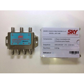 Kit 3 Chave Sky Comutadora 3x4