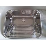 Tanque Lavar Roupas Inox 304 Ref:10.04.20435 63,5x53x25cm