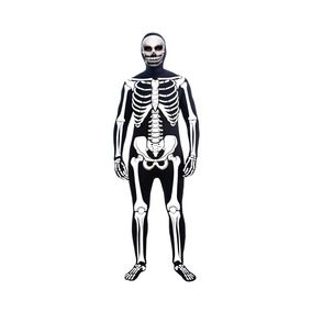 Disfraz Esqueleto Adulto Sin Mascara (solo Capucha)