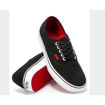 Vans Authentic ( Pop ) Black / Chinese Red N* 35