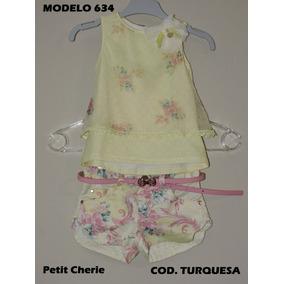 Petit Cherie Conj Blusa E Shorts Com Estampa Floral Amarelo