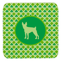 Conjunto De 4 Toy Fox Terrier Lucky Shamrock Espuma Cerveza