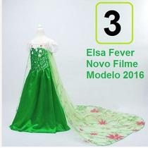 Fantasia Vestido Elsa, Frozen Disney. T. 4a11. Frete Gratis!