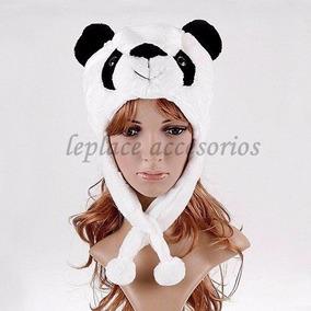 Gorros De Peluche Felpa Animal Frio Invierno Leon Panda Lobo