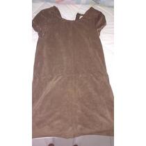 Vestido Infantil - Tecido Acamurçado - Zara - 13/14 Anos