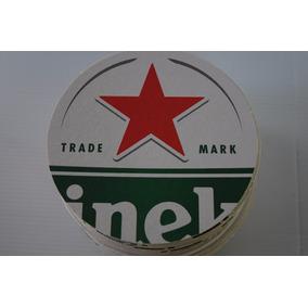Bolachas Chopp Heineken 11cm Originais Kit 50 Un Exclusivas