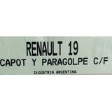 Máscara Cubre Trompa Capot Y Paragolpe. Renault 19 C/faros