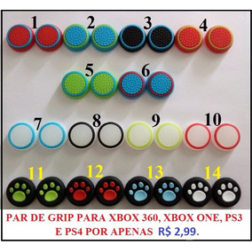 1 Par Grip Borrachas Ps3 Ps4 Xbox 360 One Game Cube R$ 2,99