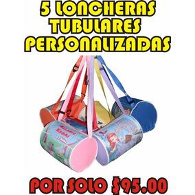 5 Lonchera Tubular Personalizada Dulcero Bolo Fiesta Piñata