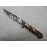 Cuchillo Antiguo De Acero Gris ( E956)