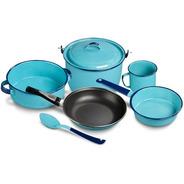 Batería De Cocina Clásica 7  Piezas Color Azul Cinsa
