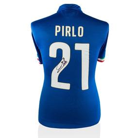 Andrea Pirlo Playera Firmada Italia Temporada 2014/2015