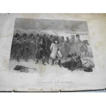 Grabado Antiguo De Napoleón(batalla En Rusia)