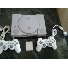 Playstation 1 Fat 2 Controles, 3 Jogos. Foto Ilustrativa.