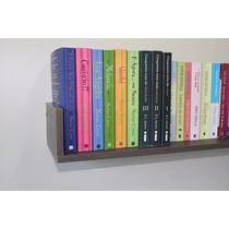 1 Prateleira Decorativa De Parede Livros Mdf Tabaco 80cm