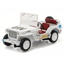 Miniatura Jeep Willys Branco United Nations 1:43 Greenlight