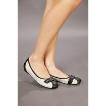 Zapatos Mujer Flats Nanien Color Hueso