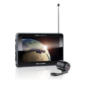 Gps Multilaser Tracker Iii Tela 7 Câmera De Ré Tv Fm Gp039