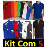 Kit 5 Camisa Polo Masculina Atacado Revenda