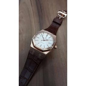 Reloj Audemars Piguet Royal Oak Oro Rosa Piel Cafe Automatic