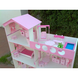 Casita Barbie 1,50 M Ascensor Piscina Luz Dia Del Niño!!!