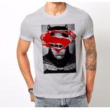 Excelentes Remera Superman Vs Batman - Algodon Calidad 100%