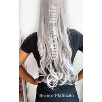 Aplique Cabelo Branco Fibra Sintética Hair Tic Tac P Prancha