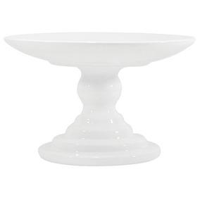 Boleira Branca Enfeite De Cerâmica