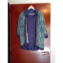 Kimono Saco Abierto Varios Colores Talle Grande
