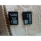 Memorias Micro Sd 8gb Y 4gb Tapa Para Moto G2 Y Case Moto G5