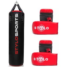 de975b378 Saco De Pancada + Luvas Artes Marciais Boxe Equipamentos Acessorios ...