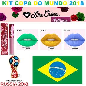 Batom Lime Crime Velvetines Kit Copa Do Mundo !