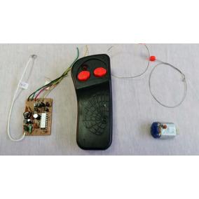 Placa Receptora + Controle +motor Carrinho Dois Canais Cod 8
