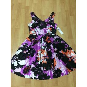 Vestido Estampado Para Dama Nuevo Talla 10 De Colores