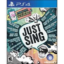 Just Sing Playstation 4 Ps4
